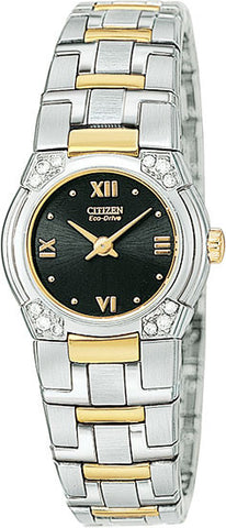 Lady's Two-Tone Eco-Drive Elite Watch - EW8034-51E