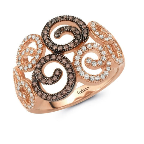 Two-Tone Swirls Ring - Lafonn R0023CCT08
