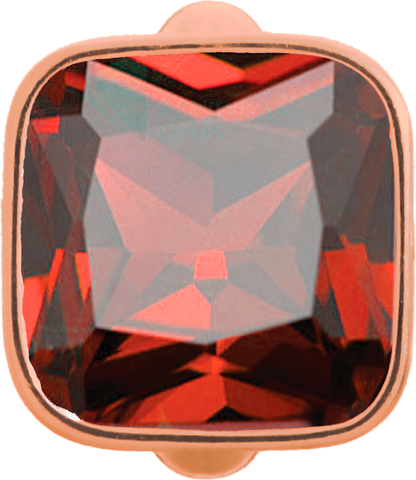Big Garnet Cube - Endless Jewelry Rose Gold Plated Sterling Silver Charm 61302-2