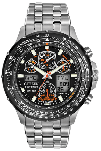 JY0010-50E Men's Citizen Eco-Drive Watch Promaster Skyhawk A-T