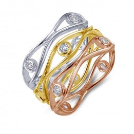 Tri-Color Stackable Rings - Lafonn R0164CLM