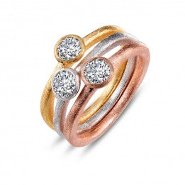 Tri-Color Stackable Rings - Lafonn R0198CLM