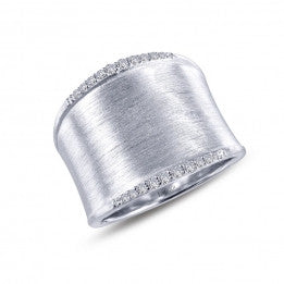 Brushed Finish Cuff Ring - Lafonn R0220CLP