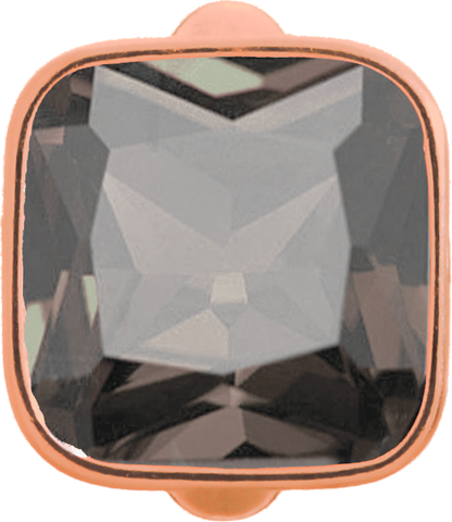 Big Smokey Cube - Endless Jewelry Rose Gold Plated Sterling Silver Charm 61302-5
