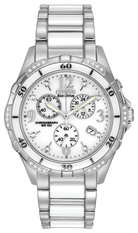 FB1230-50A Citizen Women's Eco-Drive Chronograph Watch with Diamond Accents