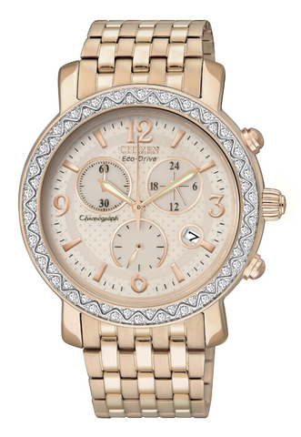 "FB1293-50A Citizen Women's Eco Drive ""Time-To-Go (TTG)"" Watch"