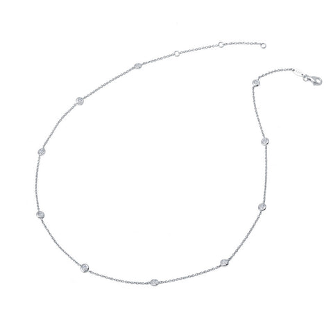 Bezel Station Necklace - Lafonn N0008CLP