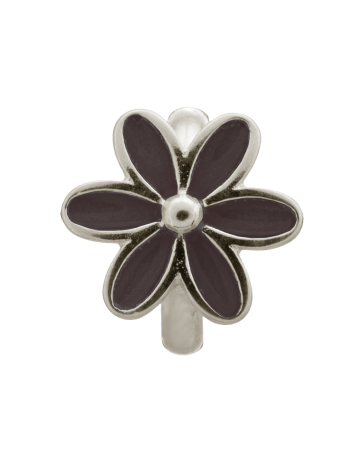 Black Enamel Flower - Endless Jewelry Sterling Silver Charm 41155-4