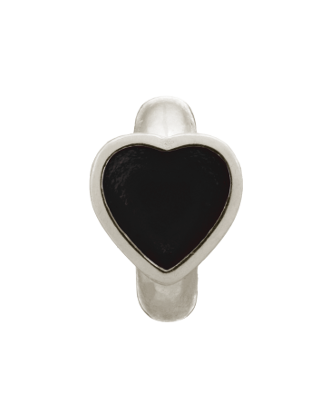 Black Enamel Heart - Endless Jewelry Sterling Silver Charm 41200-2