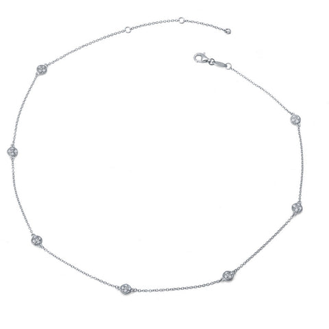 Dots Station Necklace - Lafonn 9N014CLP18