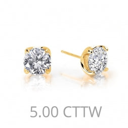 Round 5.0 Ctw Simulated Diamond Stud Earrings - Lafonn E0105CLG00
