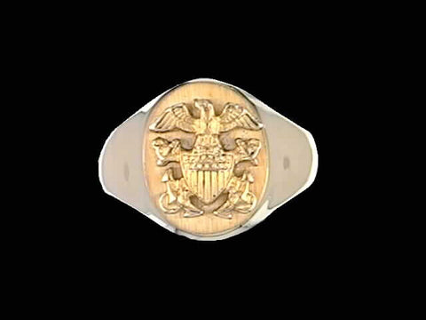 14kt Officer Crest Gold Ring