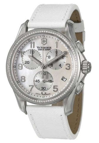 Victorinox Swiss Army Chronograph Classic Lady Diamond Watch 241398