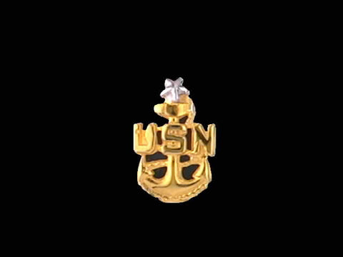 14kt Senior Chief Insignia Pin