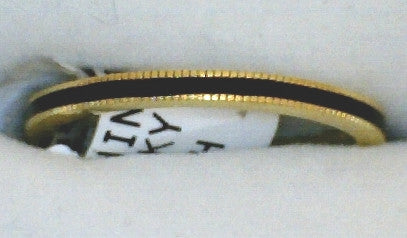 Thin Black Milgrain Band