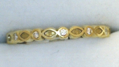 Alternating Diamond/Gold Ring Guard - Hidalgo