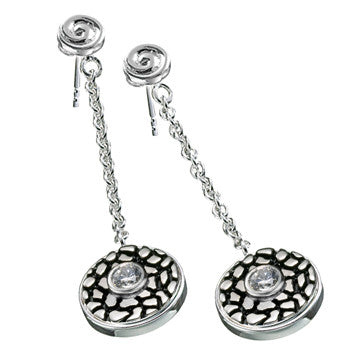 KE022 - Scroll Dangle Earrings