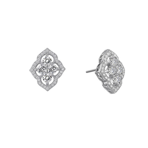 Grand Cluster Stud Earrings - Lafonn E0039CLP00