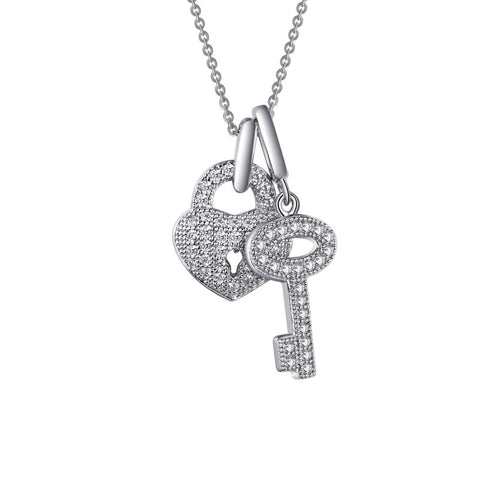 Key To My Heart Pendant - Lafonn P0049CLP18