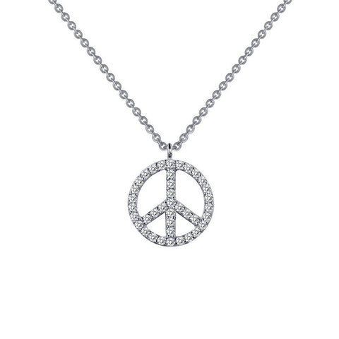 Peace Sign Necklace - Lafonn N0023CLP18
