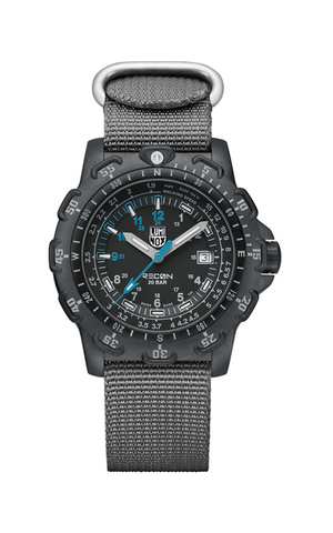 Recon Point Man Black Dial Grey Nylon Men's Luminox Watch - A.8824.MI