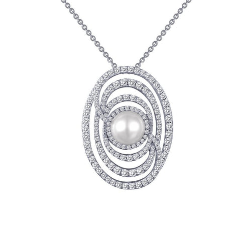 Red Carpet Collection Pearl Swirl Pendant- Lafonn 8P012CLP18