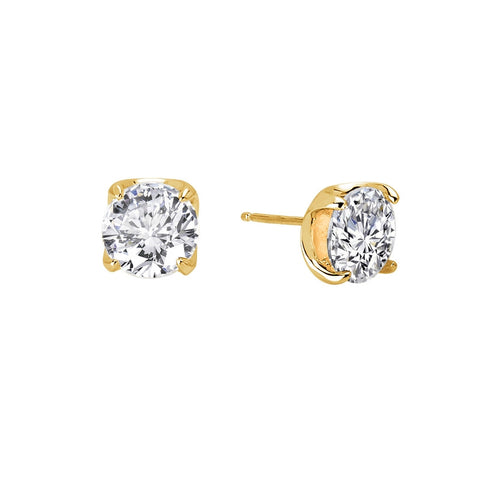 Round 3.5 Ctw Stud Earrings - Lafonn E0104CLG00