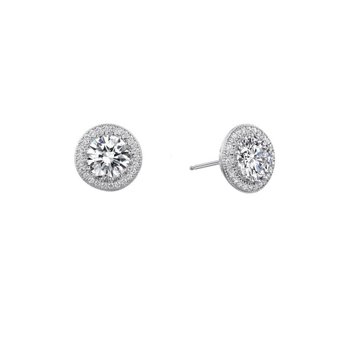 Round Halo Stud Earrings - Lafonn E0053CLP00