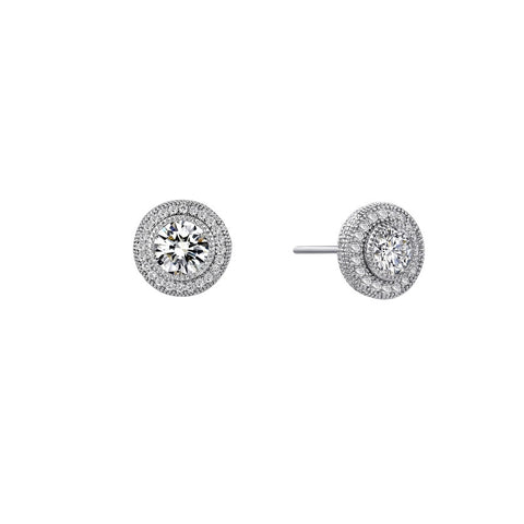 Round Halo Stud Earrings - Lafonn E0035CLP00