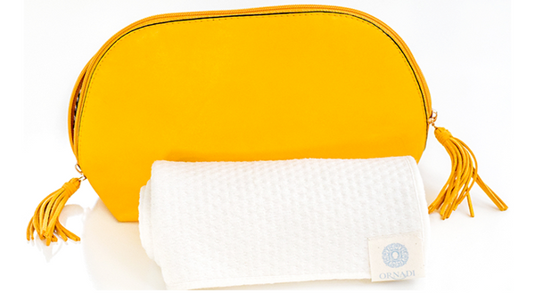 organic packable travel towel ornadi