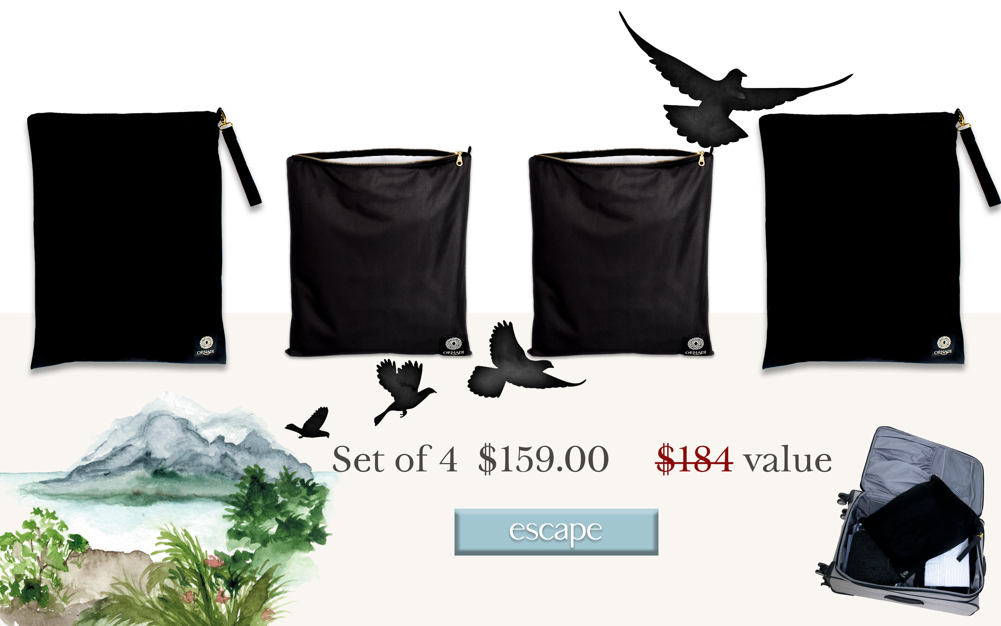 ornadi travel bags value set extended Excursion
