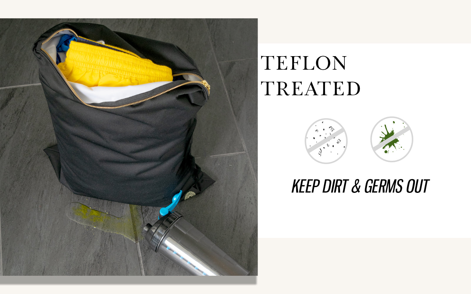 stain resistant gym bag