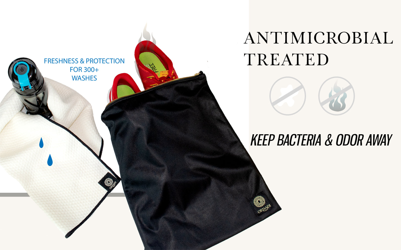 antimicrobial wet gym clothes bag