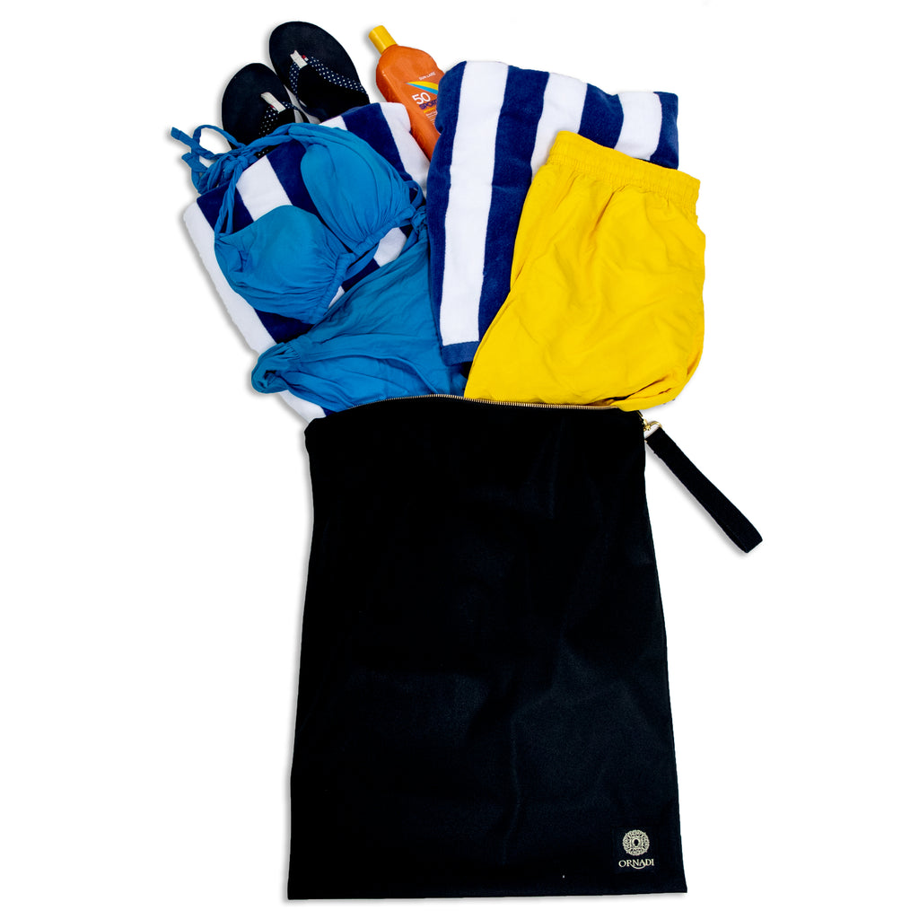beach bag for wet swimsuits & towel