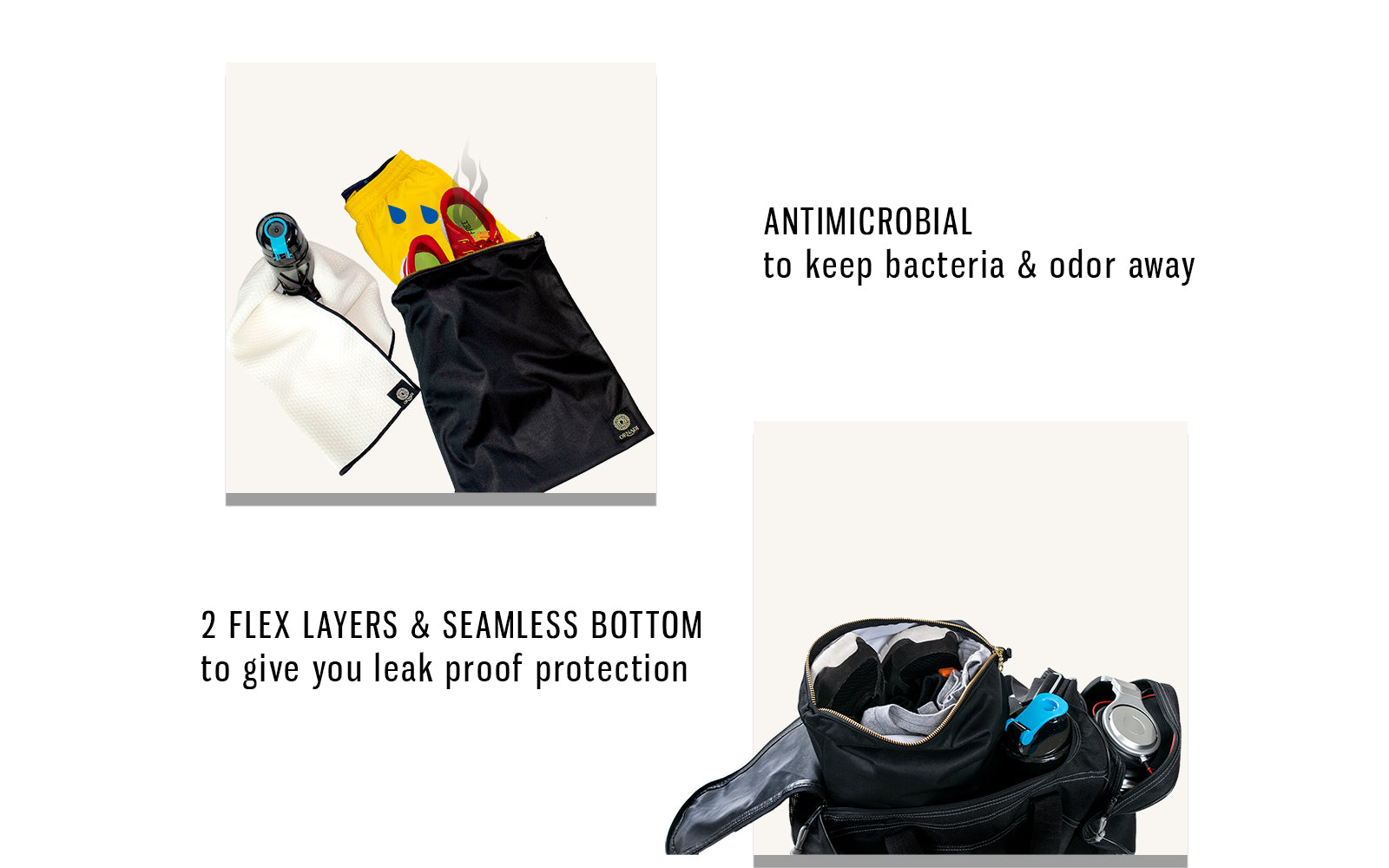 waterproof gym clothes bag