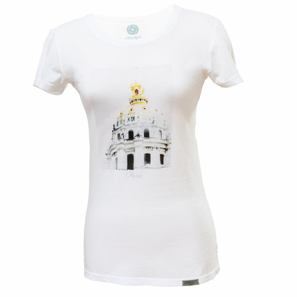 Paris White Soft Supima® Cotton Graphic Tee - Ornadi