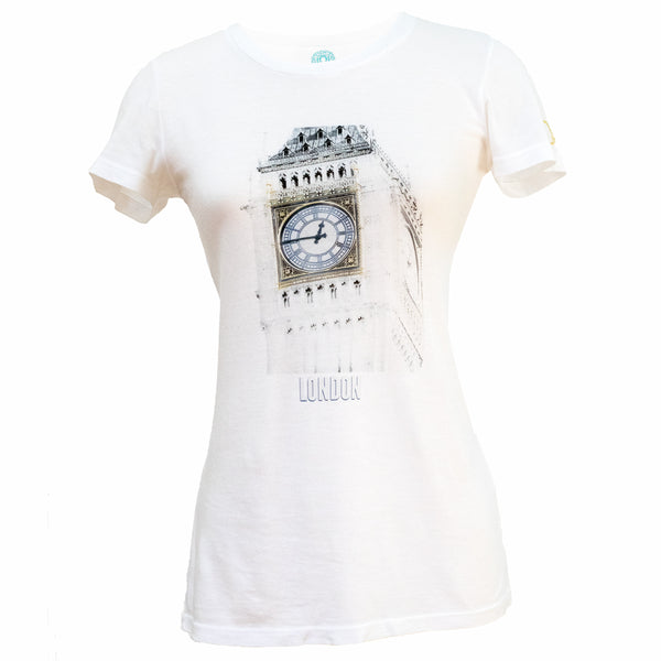London White Women's Soft Longer Graphic Tee - Ornadi