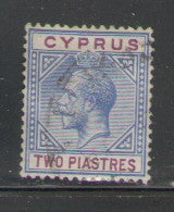 Cyprus Scott  65 1912 2 piastres ultra & maroon George V stamp used