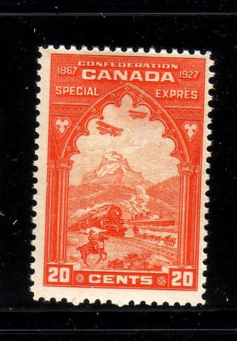 Canada Scott  E3 1927 20c orange Special Delivery stamp mint NH