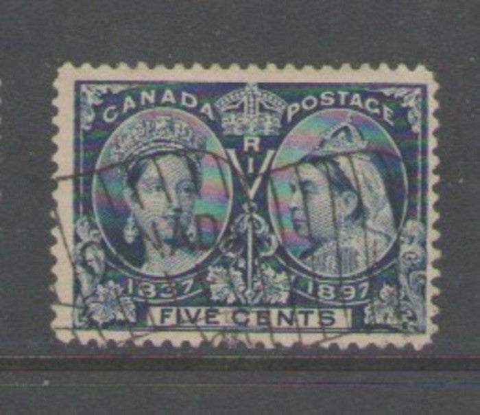 Canada Scott 54 1897 5c Victoria Jubilee stamp used flag cancel