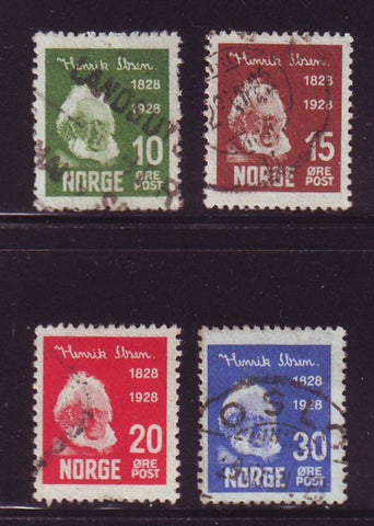 Norway Scott  132-5 1928 Ibsen stamp set used
