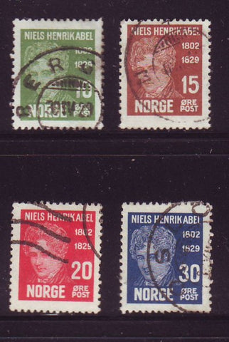Norway Scott  145-49 1929 Abel stamp set used