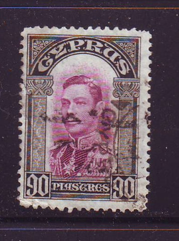 Cyprus Scott  154 1938 90 pistres George VI stamp used
