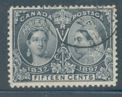 Canada Scott  58 1897 15c steel blue  Victoria Jubilee stamp used
