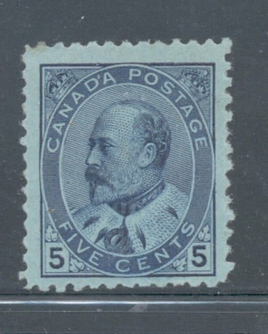 Canada Scott 91 1903 5 c blue Edward VII stamp mint