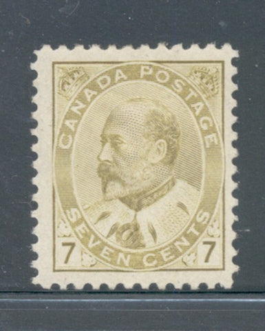 Canada Scott 92 1903 7 c yellow bistre Edward VII stamp mint