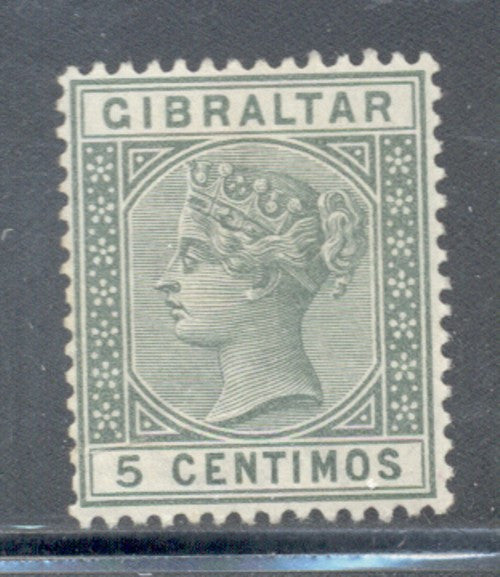 Gibraltar Scott 29 1887 5 centimos green Victoria stamp mint