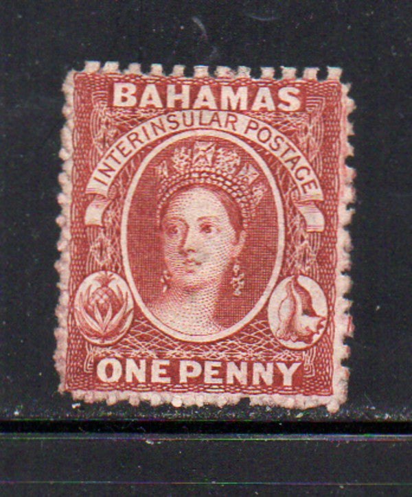 Bahamas Scott 11 1853 1d lake Victoria stamp mint