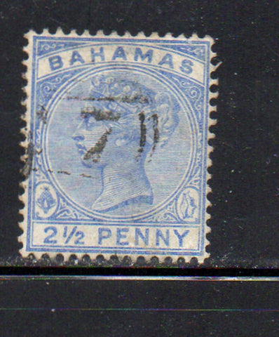 Bahamas Scott  28 1884 2 1/2d  ultra Victoria stamp used
