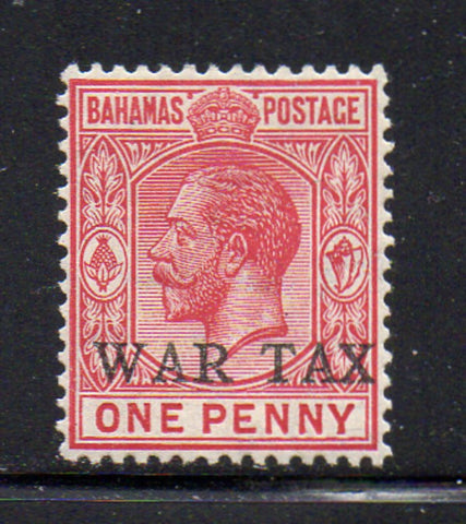Bahamas Scott  MR2 1918 1d G V War Tax stamp mint